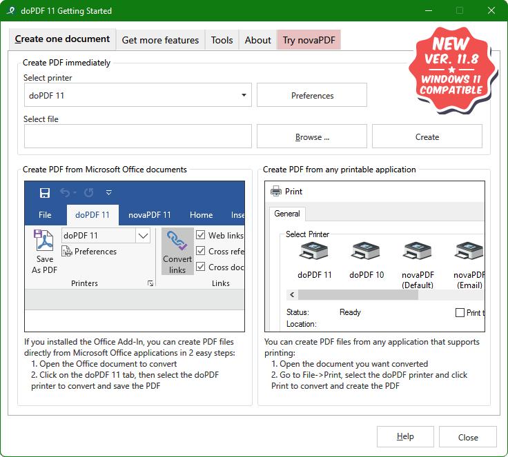 free pdf converter print to pdf with dopdf